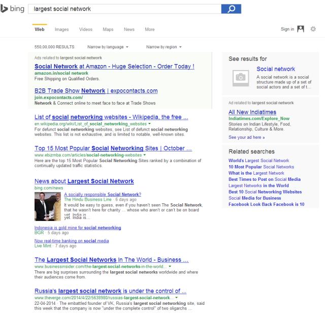 Bing1LargestSocial
